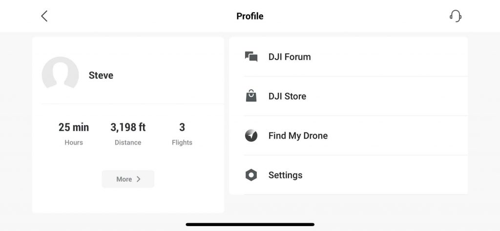dji fly pilot profile