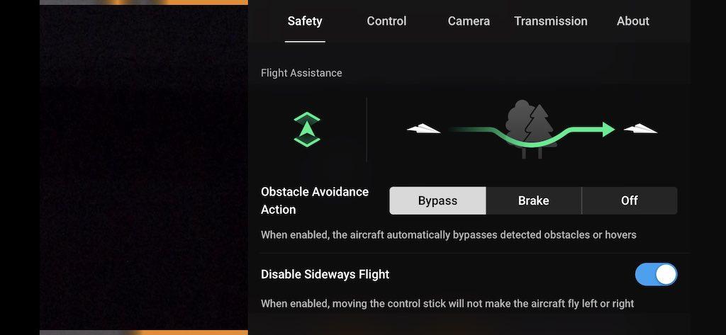 mavic air 2 flight assitance