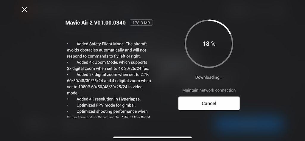 mavic air 2 firmware 0340