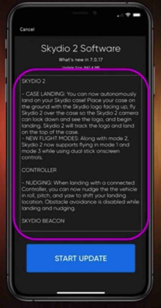 skydio 2 firmware details