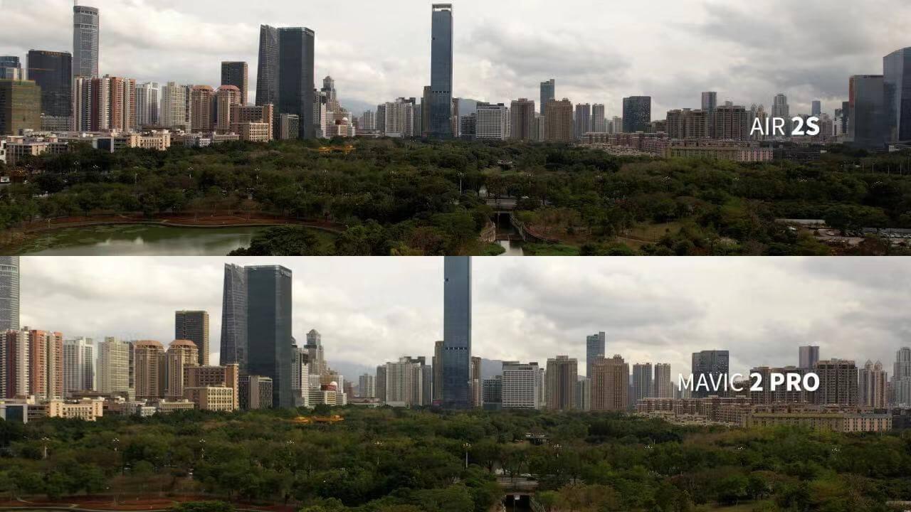 dji air 2s and mavic 2 pro photo comparison