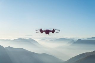 A drone in the cloud